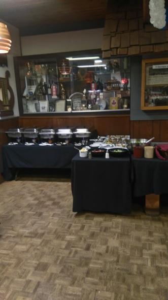 alpen club buffet area